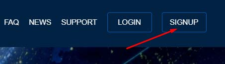 Регистрация в Chainex