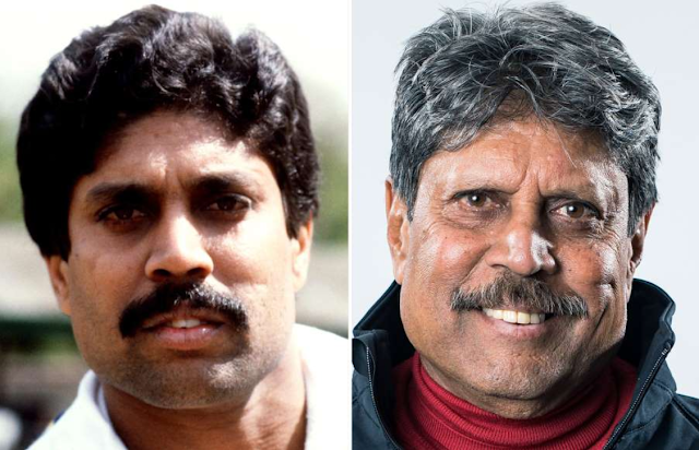 Kapil Dev then and now