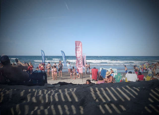 Fun at the beach in Puerto Madryn, Chubut, Argentina