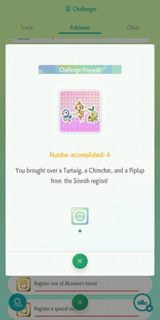 Pokémon Home challenges Turtwig Chimchar Piplup Sinnoh region starters