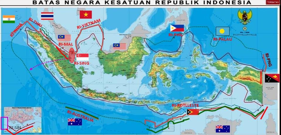 10+ NEGARA Yang Berbatasan Dengan Indonesia Terbaru dan ...