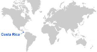 Gambar Peta letak Kosta Rika