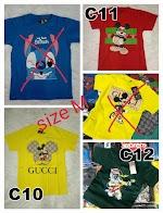 Jual Kaos Distro Trend Lengan Pendek Ukuran M Cotton Combed