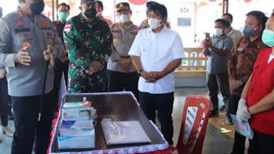 Kapolda Sulut Cek PPKM di Lowu Utara Minahasa Tenggara