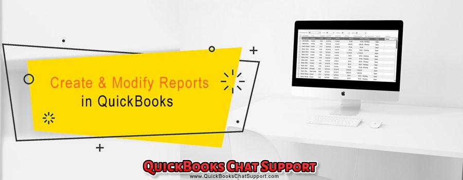 Create & Modify Reports in QuickBooks