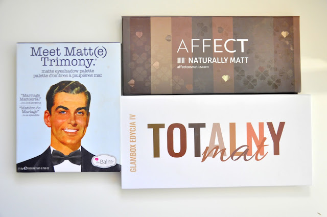 the balm meet matt(e) trimony, affect naturally matt, glamshop totalny mat