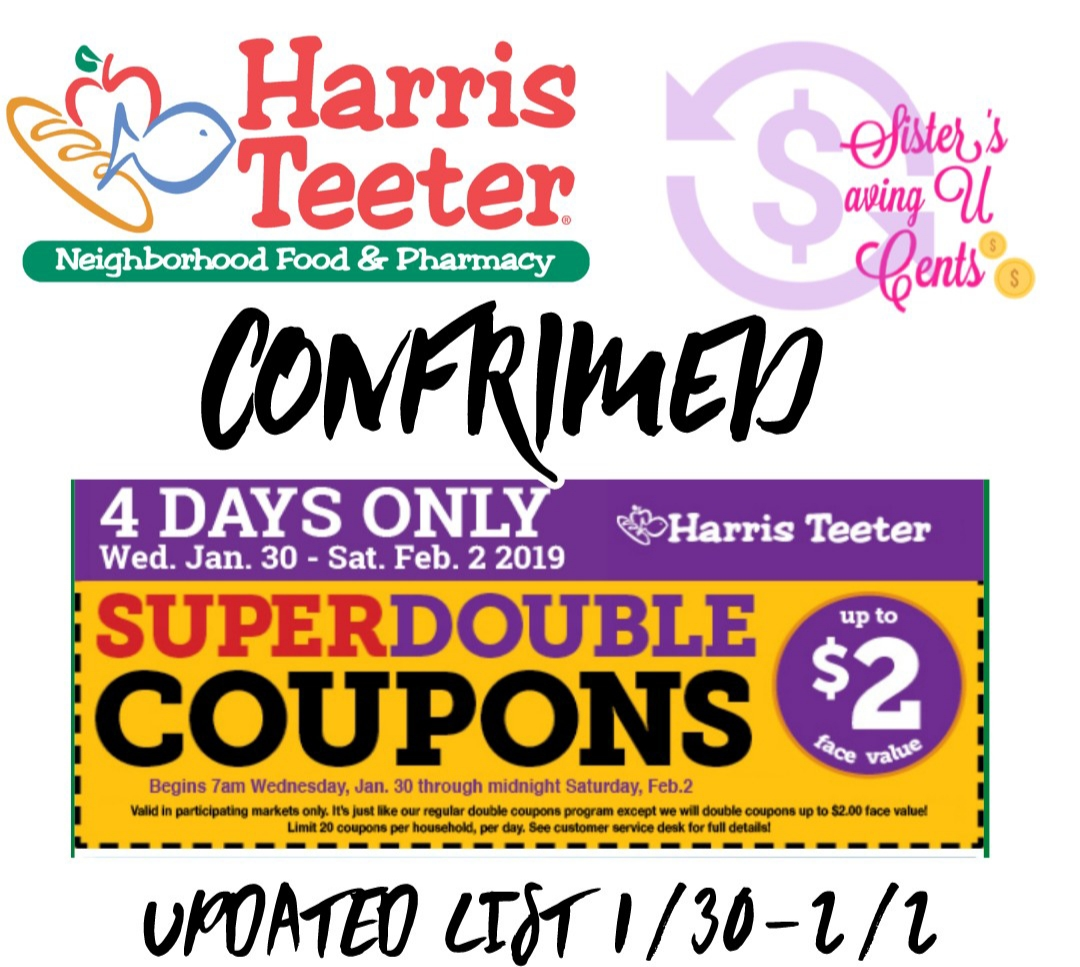 do catalina coupons double at harris teeter