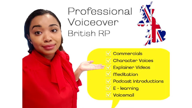 Professionally record female british voice over for you - female voice over actors - voice talent library