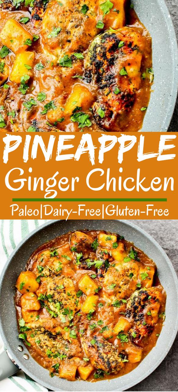 Pineapple Ginger Chicken #healthy #paleo