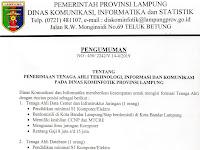 Penerimaan Tenaga Ahli Teknologi, Informasi dan Komunikasi Pada Dinas Kominfotik Provinsi Lampung
