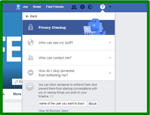Block Friends List On Facebook