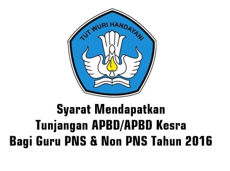 Syarat Mendapatkan Tunjangan APBD/APBD Kesra Bagi Guru PNS & Non PNS Tahun 2016