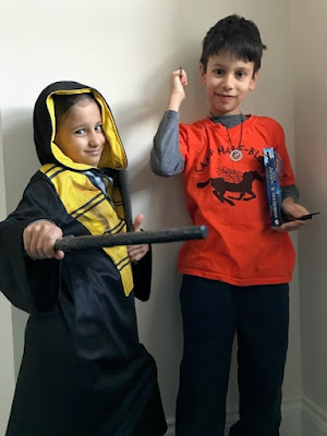 World Book Day costumes - Hogwarts and Percy Jackson