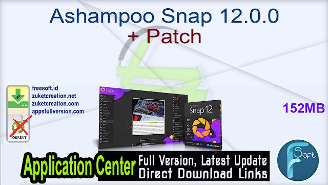 Ashampoo Snap 12.0.0 + Patch