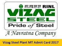 Vizag Steel Plant MT Admit Card