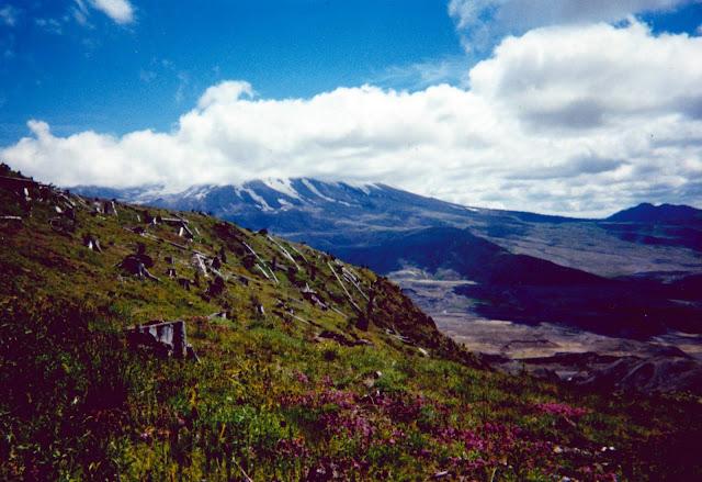 cloud covered peak of Mt. Saint Helens