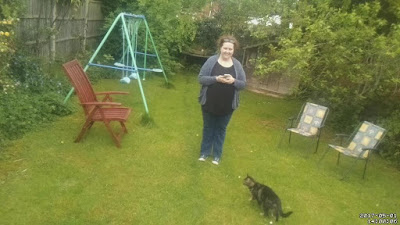 PippaD in her back garden, thanks to the automated picture