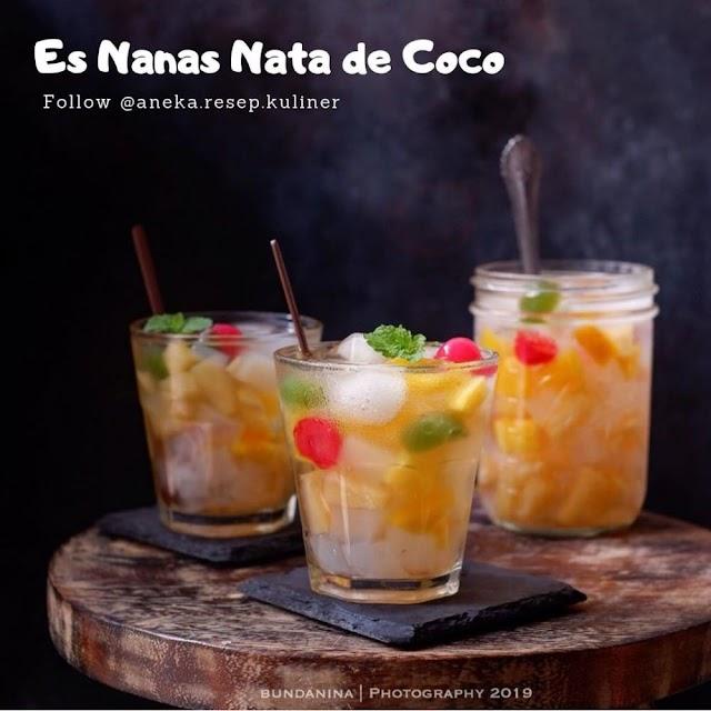 Begini Cara Gampang Membuat Es Nanas Nata De Coco