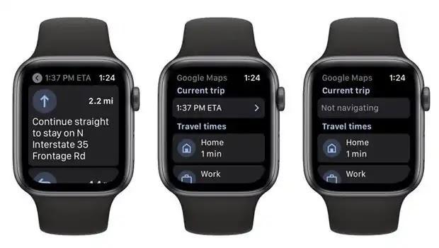 تعود خرائط Google إلى Apple Watch