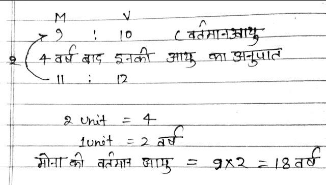 अनुपात एवं समानुपात के महत्वपूर्ण सवाल (Ratio and Proportion Question in Hindi)