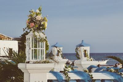 Azotea decorada para una boda