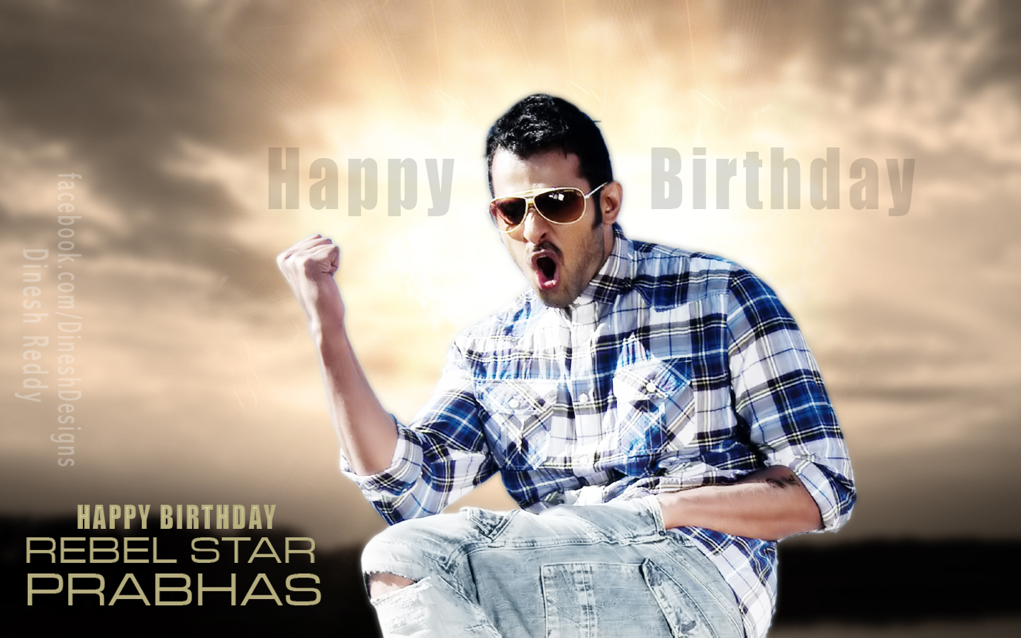 Stylish Prabhas Hq Wallpaper In Rebel: Dinesh Designs: Rebel Star Prabhas Birthday Wallpapers