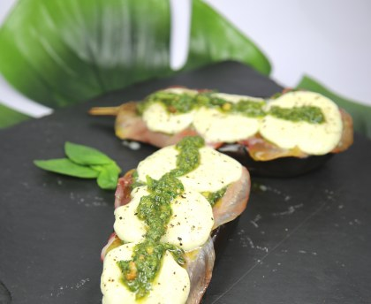 Eggplants with pesto