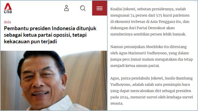 KLB Demokrat Disorot Media Asing: Pembantu Presiden Jadi Pimpinan Oposisi