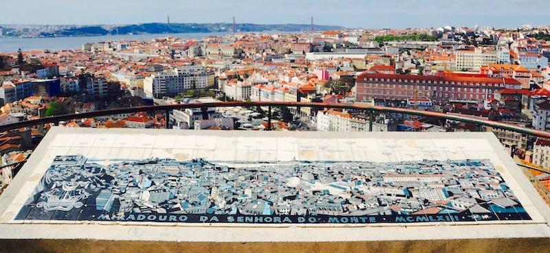 Miradouro de Nossa Senhora punkt widokowy Lizbona