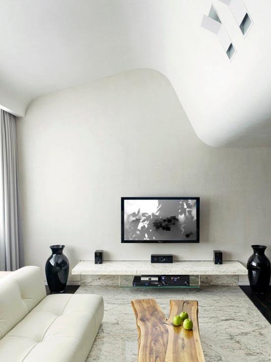 Easy Interior Design Ideas Bedroom: Simple White Apartment Interior Designs