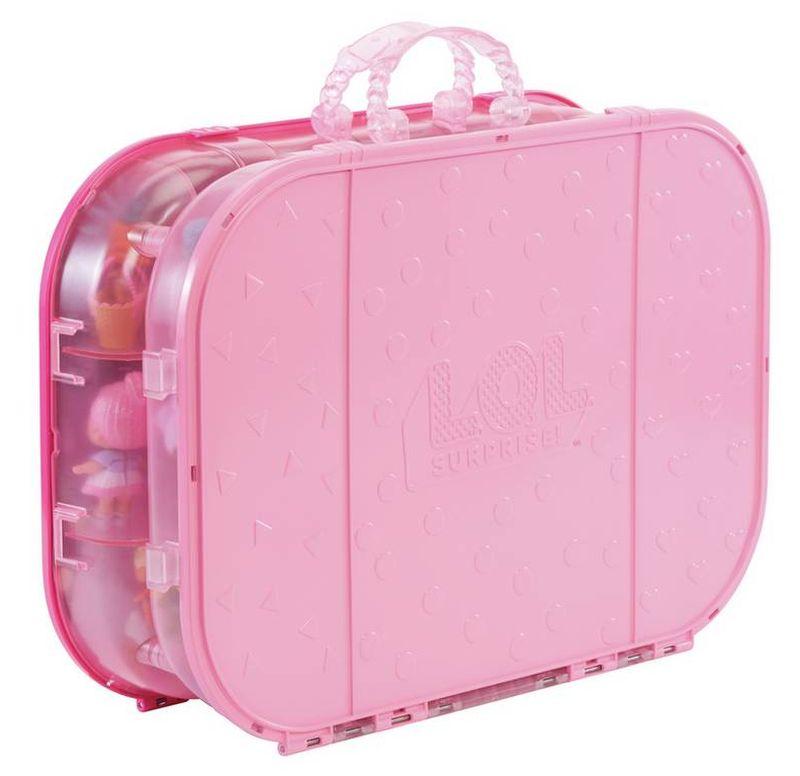 Розовый чемоданчик для хранения кукол Лол