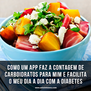 diabetes, gliconline, contagem de carboidratos, aplicativo, app