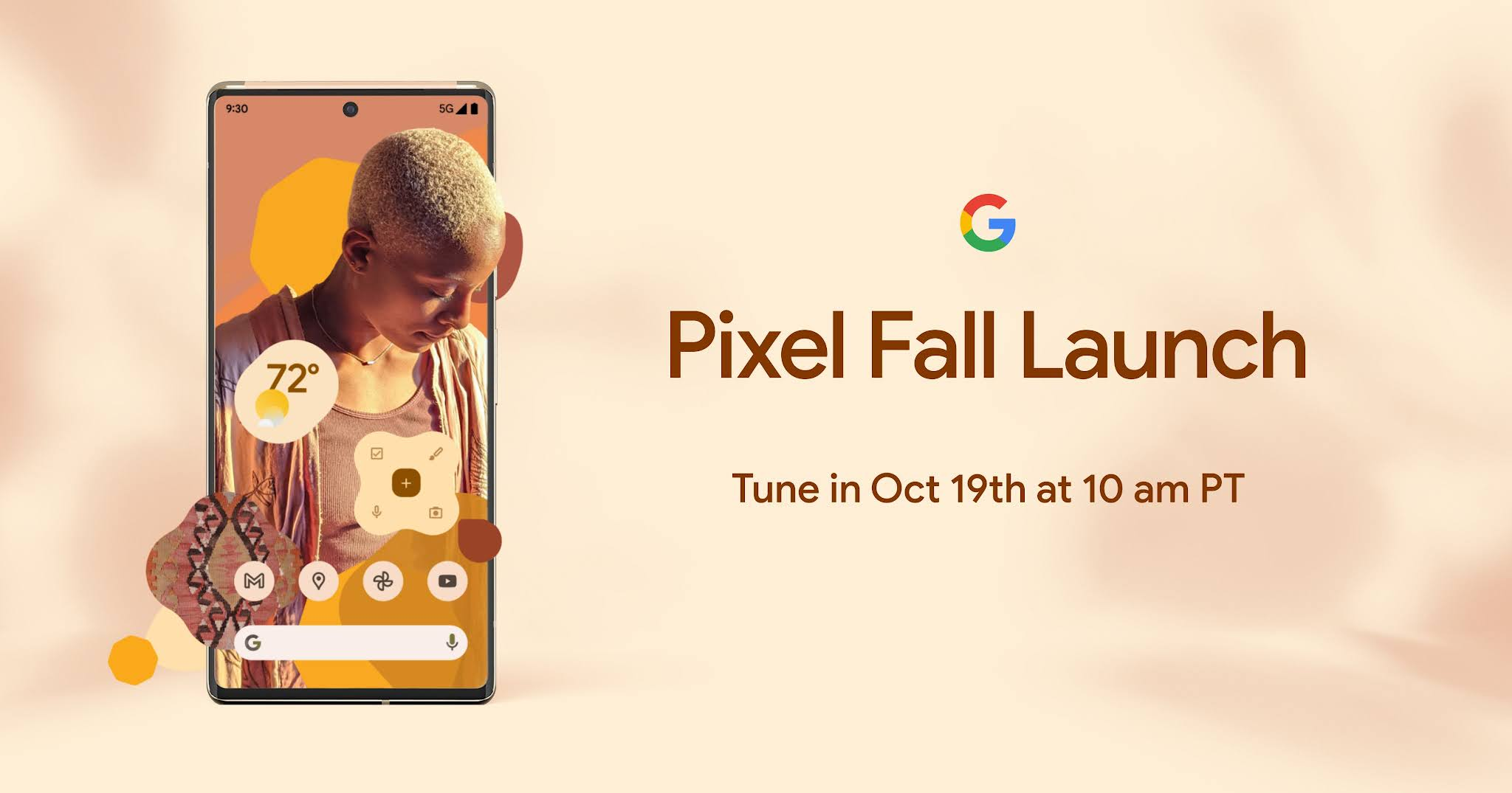 Google announces the Pixel 6 virtual launch event will be on October 19