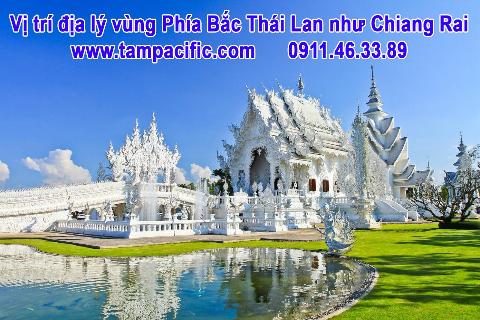 Vị trí địa lý vùng Phía Bắc Thái Lan như Chiang Rai