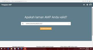 Cara Cek dan Mengetahui Template Blog valid AMP atau Belum