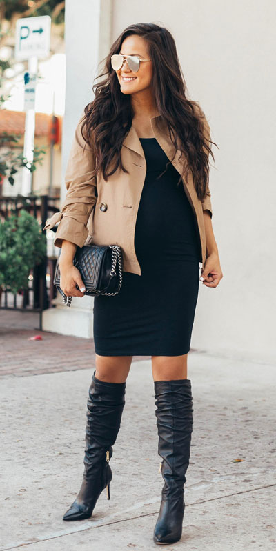Need Style Inspiration for Fall Season. See these 31 Most Popular Fall Outfits to Truly Feel Fantastic. Fall Style via higiggle.com | black bodycon dress | #fall #falloutfits #jacket #bodycon