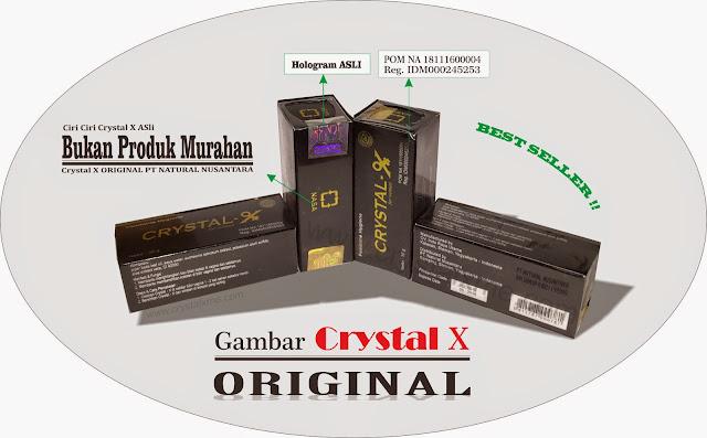 crystal x aman asli produk murah nasa