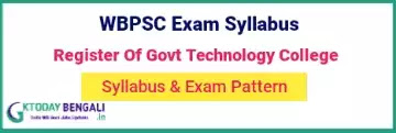 WBPSC Register Of Govt Technology College Syllabus