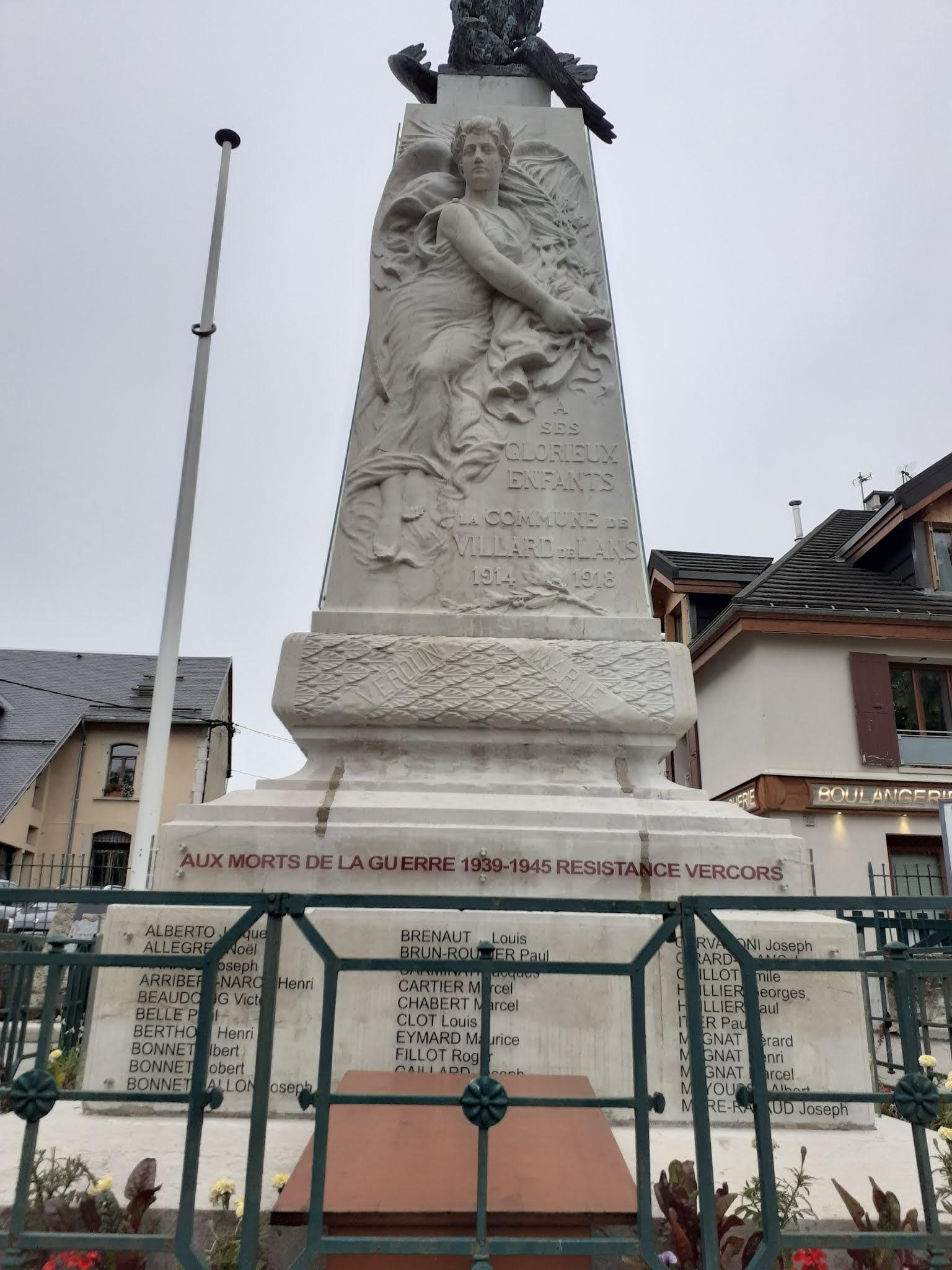 Le monument aux morts de Villard de Lans