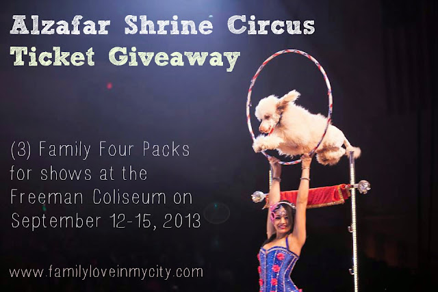 San Antonio Alzafar Shrine Circus Giveaway