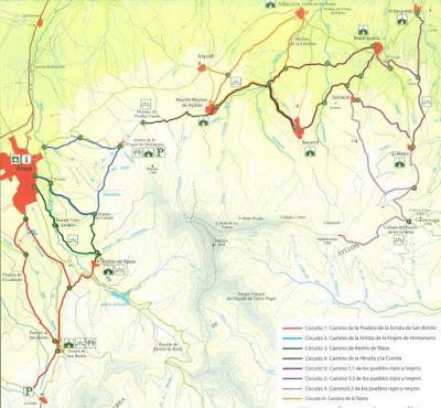 mapa rutas senderismo Riaza Segovia