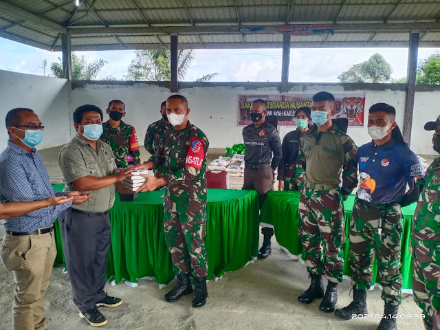 Diwilayah Simalungun, Personel Jajaran Kodim 0207/Simalungun Dampingin Kegiatan Latsitarda XLI /2021