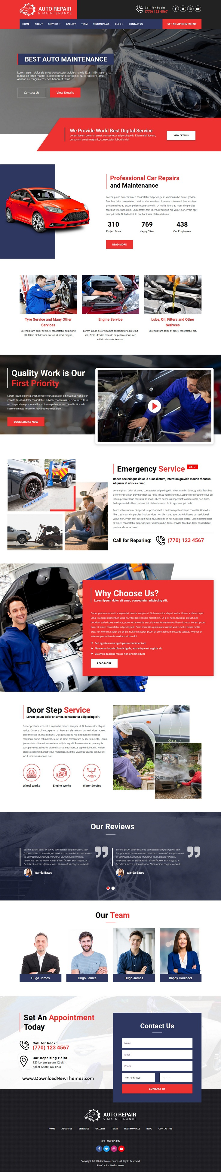 Auto Repair Responsive Website Template