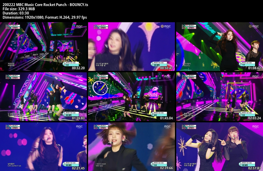 Music Core , Rocket Punch , BOUNCY, 1080p , Kpop, 2020