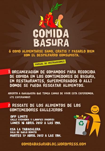II Cena de 'Comida Basura' hoy en Lavapiés