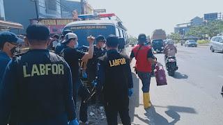 Cari Penyebab Kebakaran, Tim Puslabfor Polda Sulsel & INAFIS Polres Gowa Lakukan Olah TKP