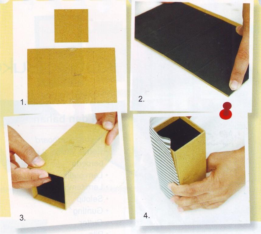 Kerajinan Kotak Pensil Cantik dari Daur Ulang Limbah ...