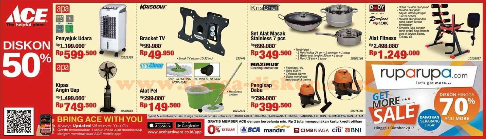 harga diskon promo ace hardware terbaru boom sale periode 13 september 17 oktober 2017. Black Bedroom Furniture Sets. Home Design Ideas