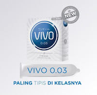 VIVO Sensitif 0 03 Kondom Kontrasepsi