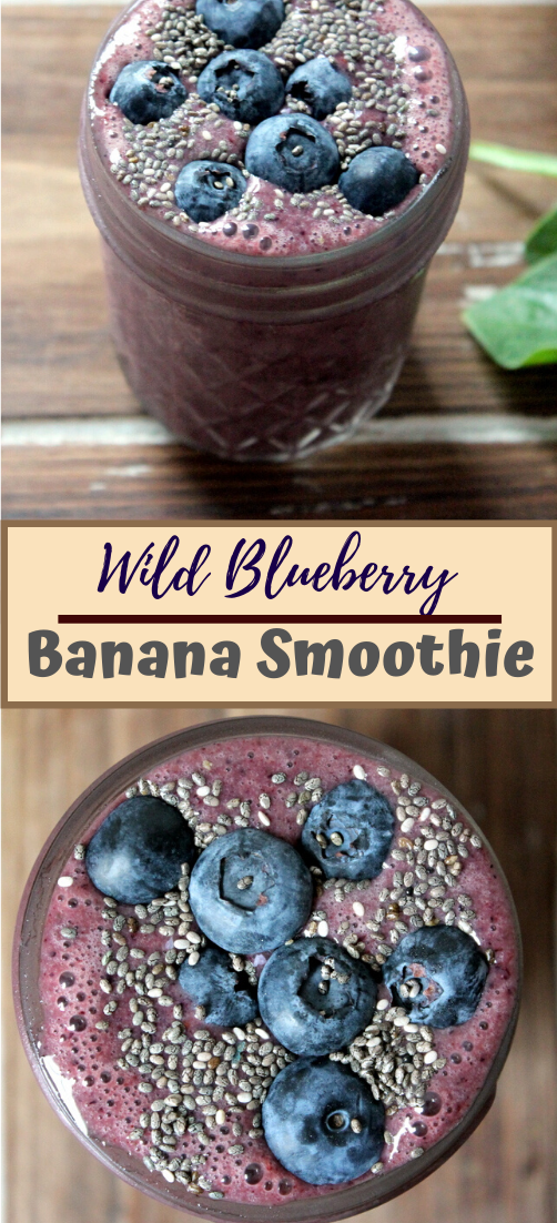 Wild Blueberry Banana Smoothie  #healthydrink #easyrecipe #cocktail #smoothie